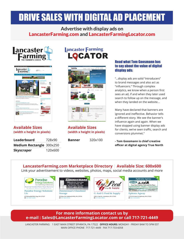 Lancaster Farming Digital Advertising