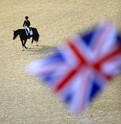 Britannia rules Olympics equestrian events