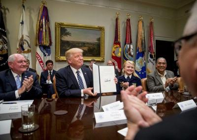 Trump Round Table.Perdue Farmers Join Trump For Roundtable On Agriculture Farm