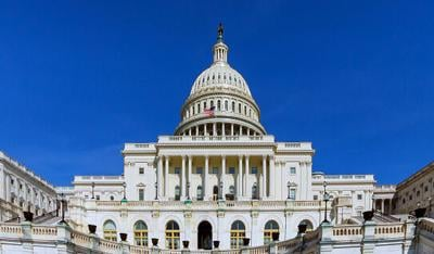 United States Capitol Building on Capitol Hill in Washington DC, USA a panoramic view