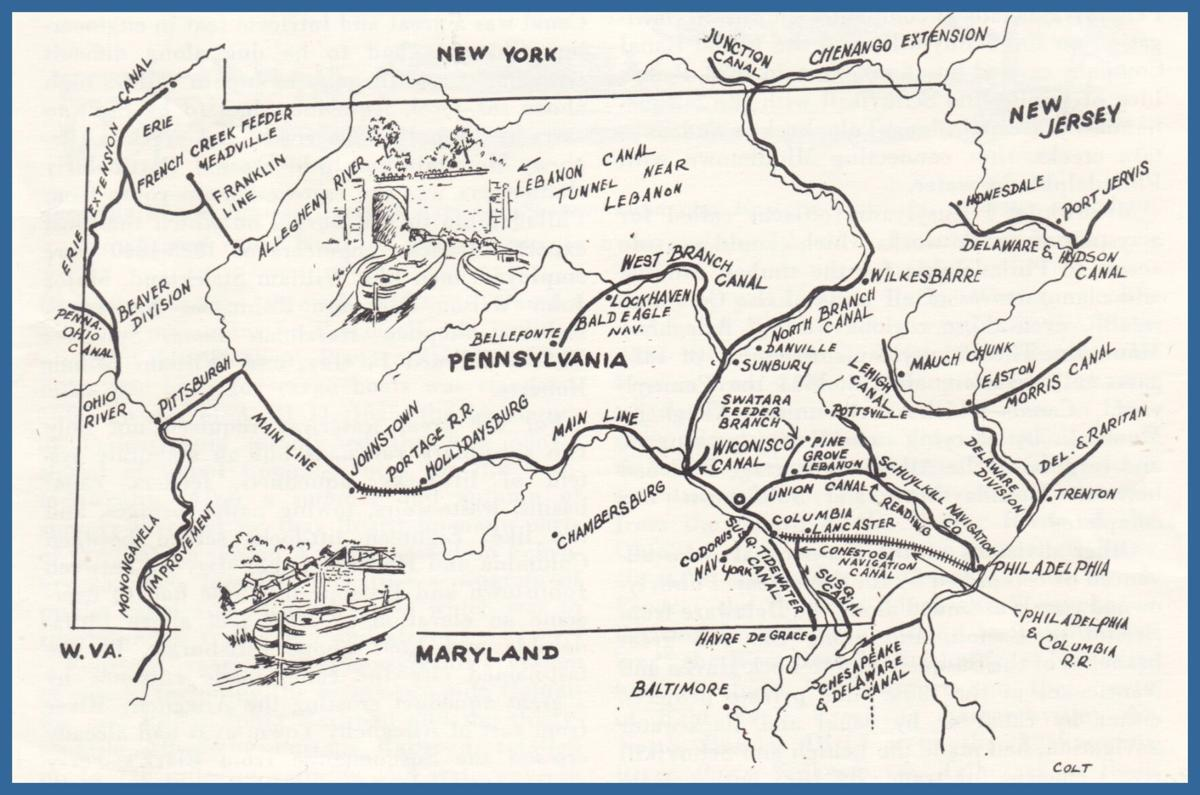 Map of Pennsylvanian Canals