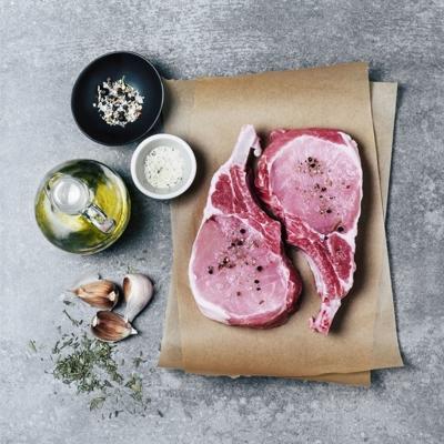 Raw pork chops
