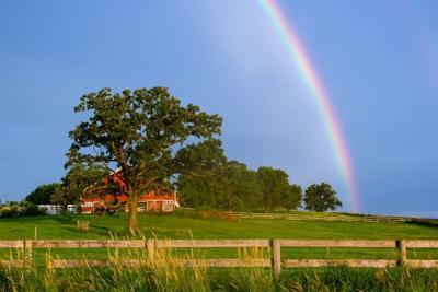 rainbow farm barn
