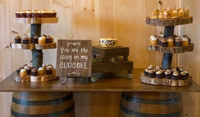 Cupcake Display at Stone Ridge Arces