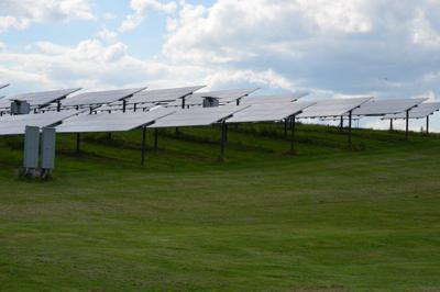 solar panels on farm