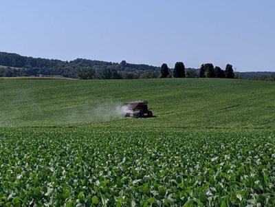 broadcasting cover crops into soybeans