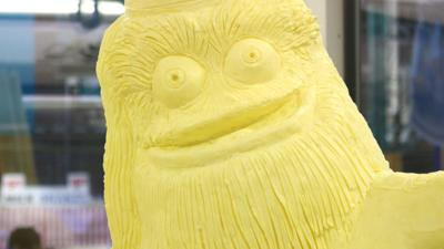 Gritty Mascot Butter Sculpture at 2019 PA Farm Show