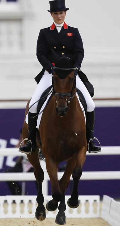 Eventing: Zara Phillips helps Brits to 3rd place in dressage; U.S.'s 7th