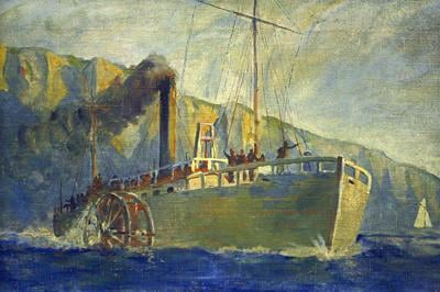 19th Century Transportation - America's First Successful Steamboat  - Robert_Fulton's Clermont