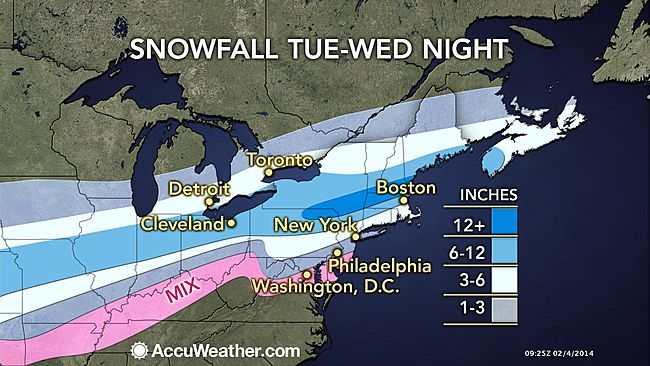 Winter storm warning in effect: 2 to 6 inches of snow expected before icing begins overnight