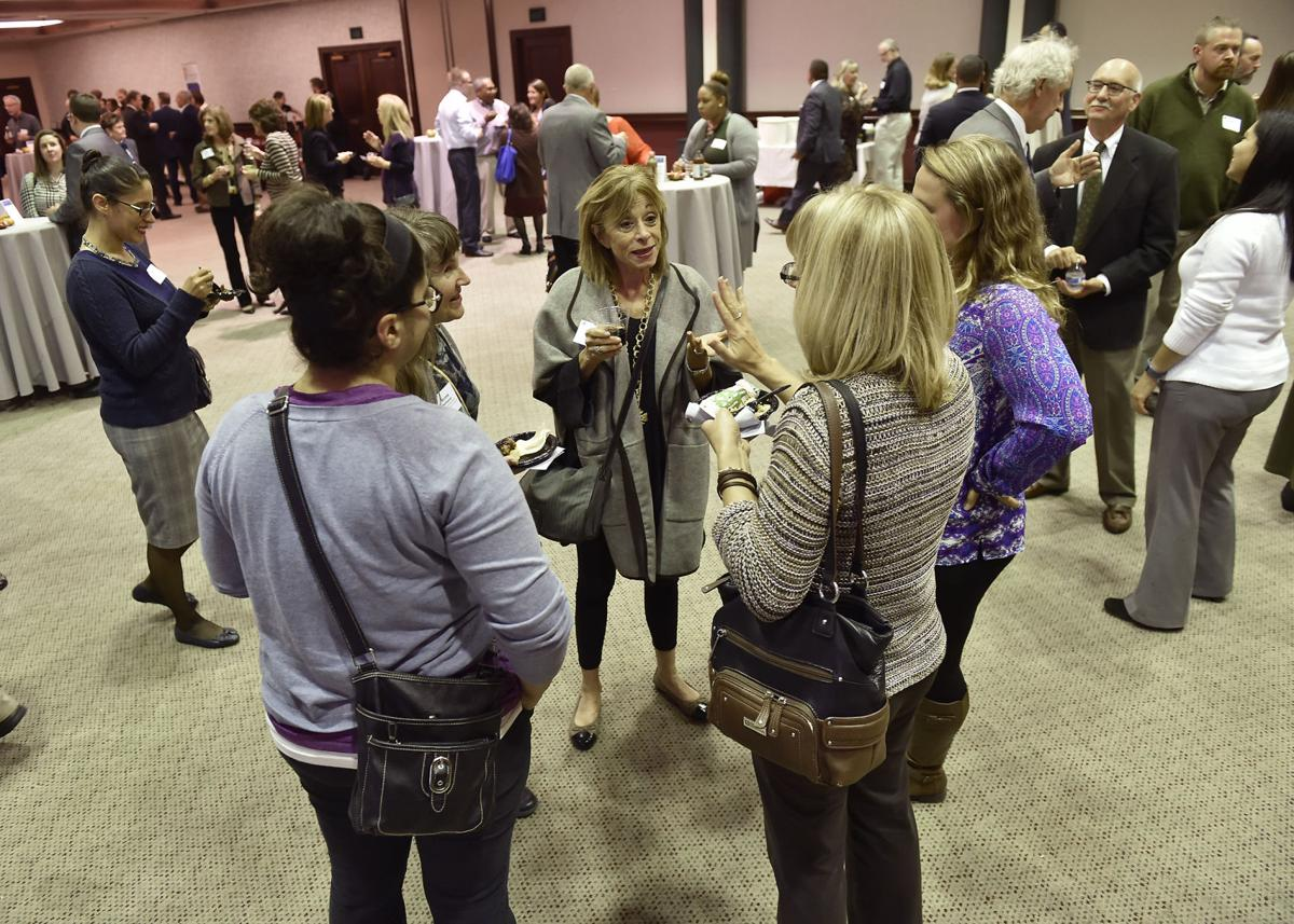 People mingle during Lancaster Chamber's 6th annual Diversity Mixer on Tuesday, November 1, 2016 by Suzette Wenger
