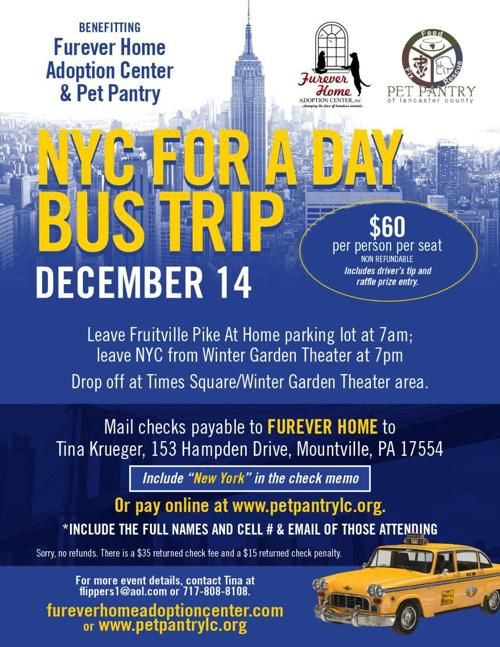 NYC for a Day Bus Trip  (benefiting Furever Home & Pet Pantry)