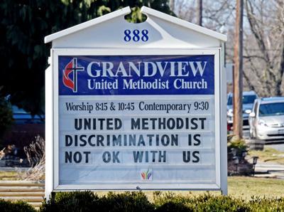 Grandview UMC sign