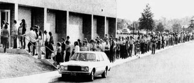 Polio vaccine line, MT, 1979