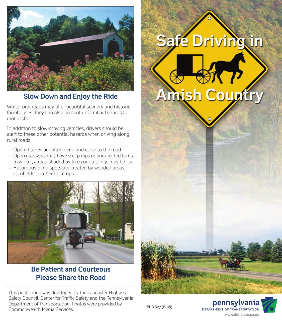 Safe Driving in Amish Country, from PennDOT