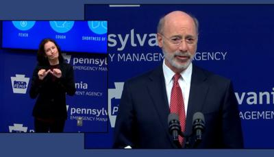 Gov. Tom Wolf during briefing 051120