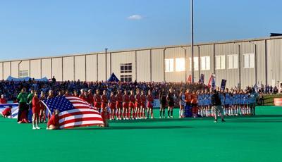 USA field hockey vs. Germany