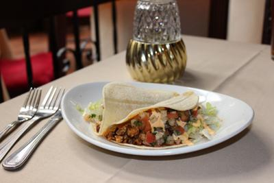 El Serrano taco appetizer