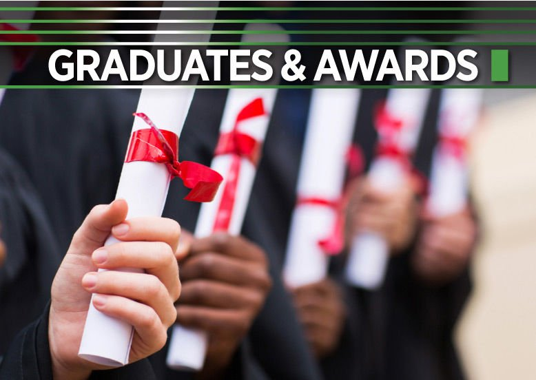 Graduates and awards logo