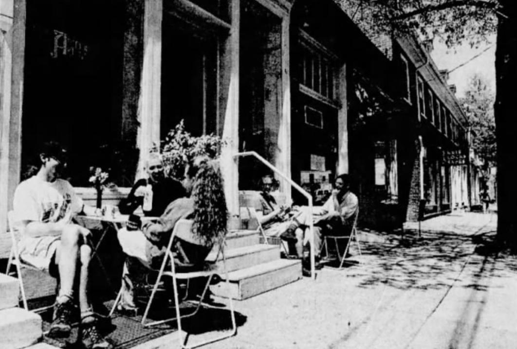 Sidewalk dining, 1996