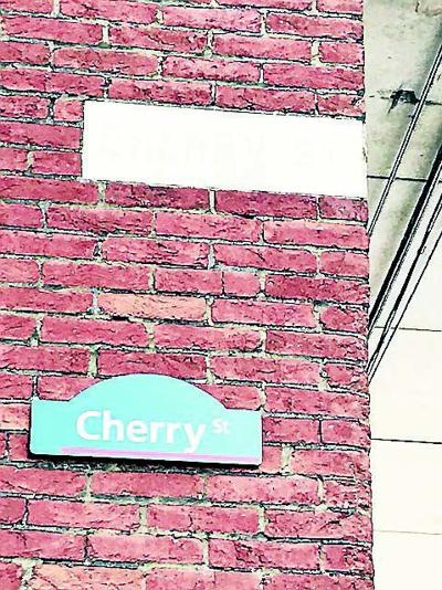 Marble street sign