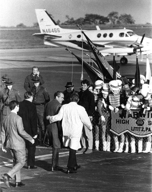 Richard Nixon in Lancaster 10-1970