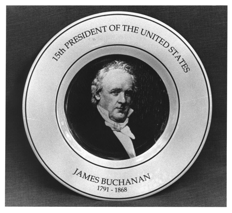 James Buchanan plate