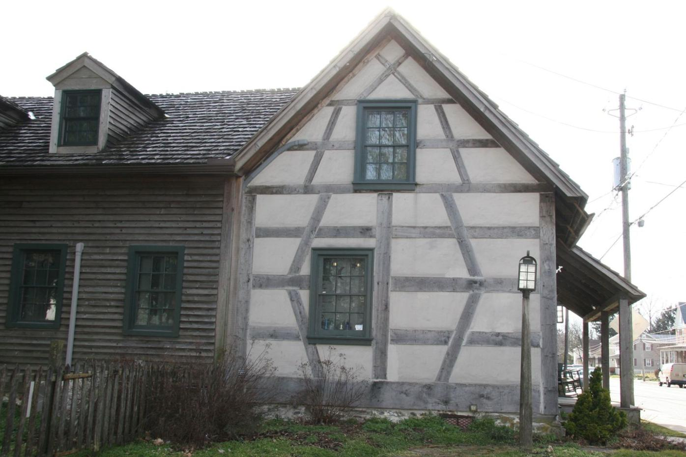 German Half-timbering with plaster waddle and daub Strasburg.jpg
