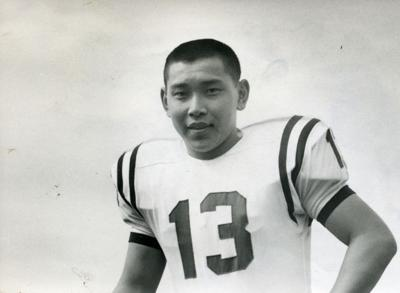 Franklin   Marshall quarterback Seiki Murono was named the Most Outstanding  Football Player in the Middle Atlantic Conference in 1964 e228e69d71e