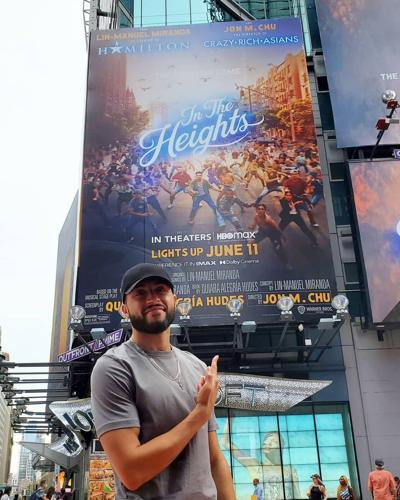 Alexander Diaz with Times Square Billboard