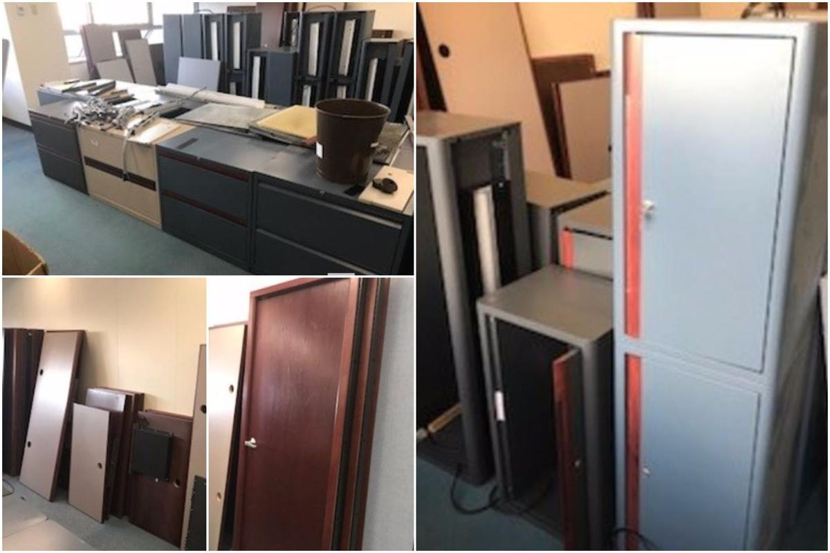 State Owned Surplus Items Available At Online Auction Include Office Supplies Desks Cabinets Work Station Counters And Doors