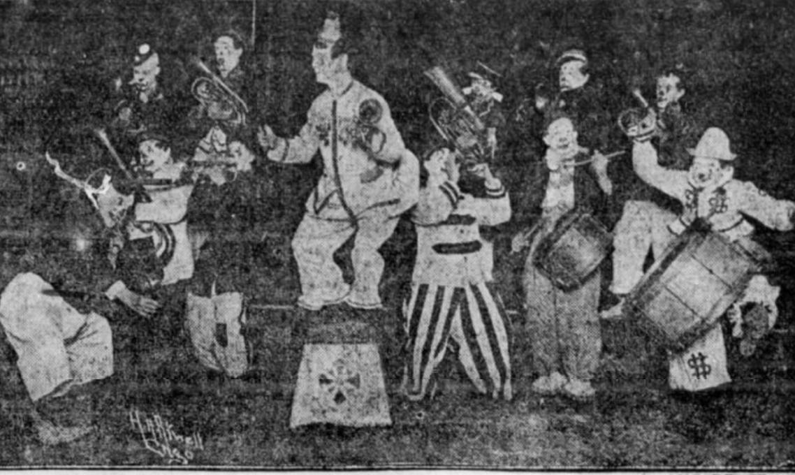 Irrepressible Clown Band, 1920