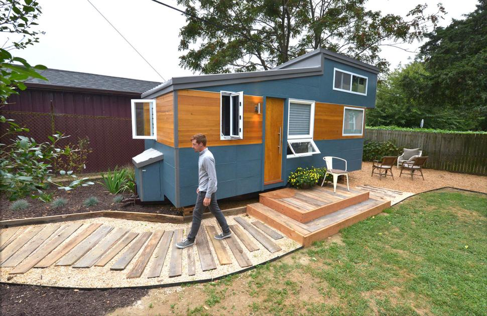 Little Houses For Sale a 200 square feet tiny house on wheels in san diego california designed by New Lancaster Company Builds On The Tiny House Movement Home Garden Lancasteronlinecom
