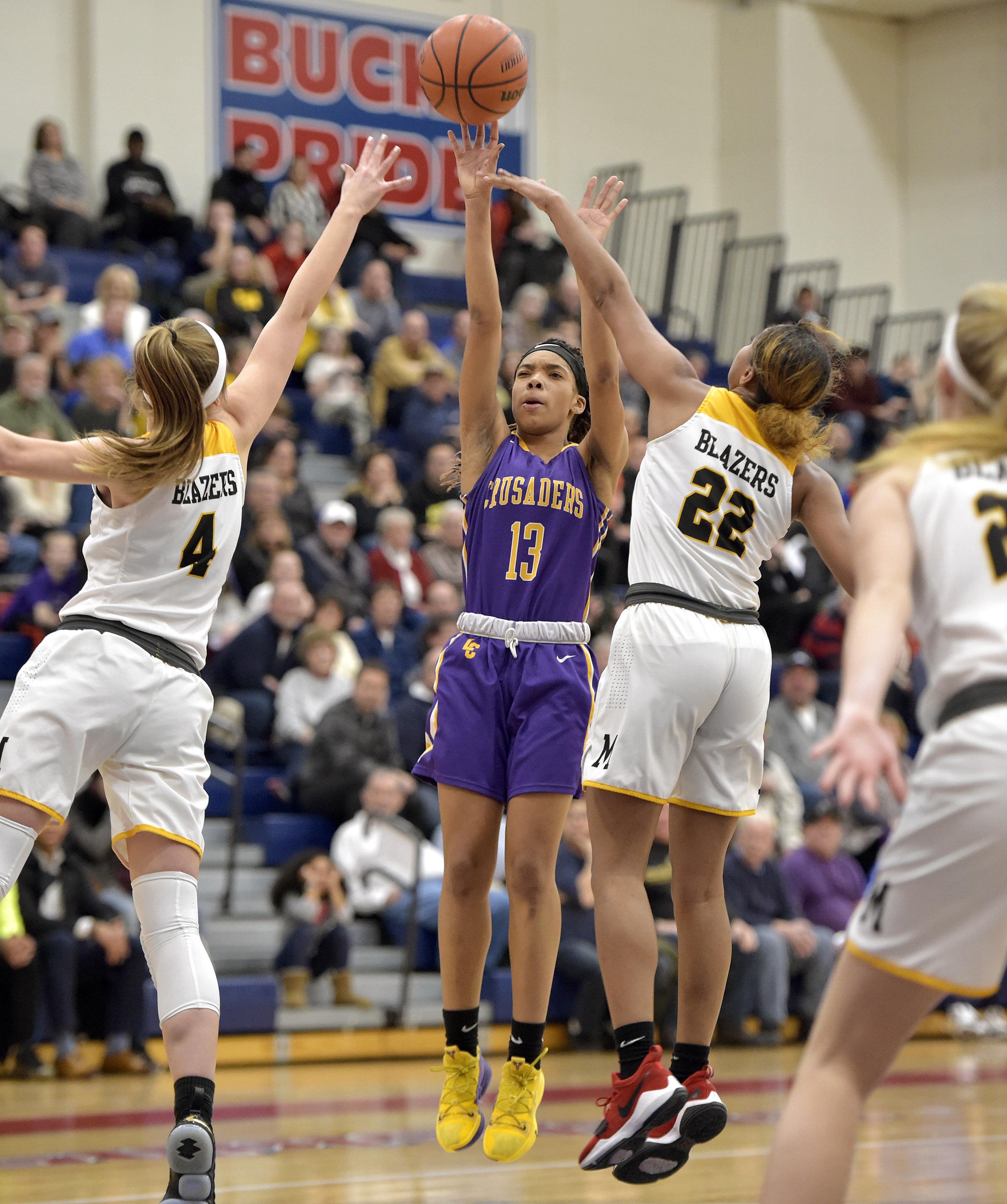 Lancaster Catholic Girls Charge Past Lancaster Mennonite Earn Spot In L L League Title Game Girls Basketball Lancasteronline Com
