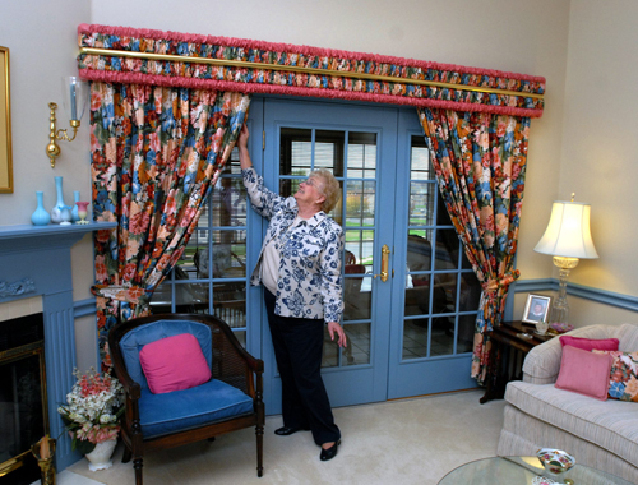 French Door Dressing Ideas Part - 46: Window Dressing: Ideas For Unusual Shapes