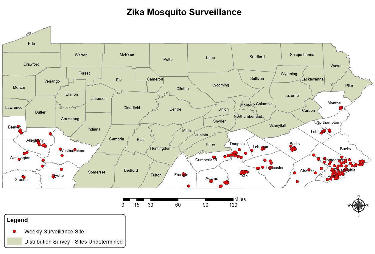 2017 zika mosquito monitoring sites