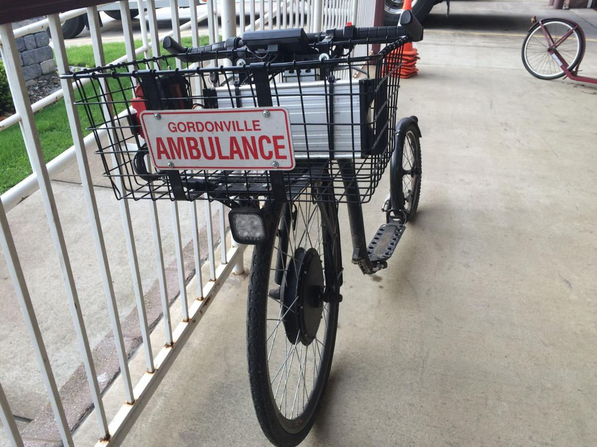 This motorized Amish scooter is used by a member of the Gordonville Fire & EMS Co.