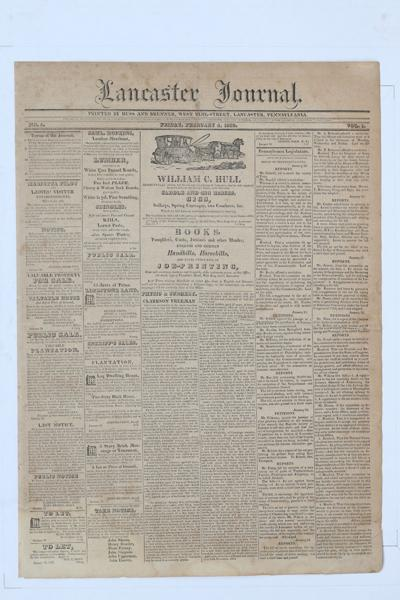 Front page - 1820