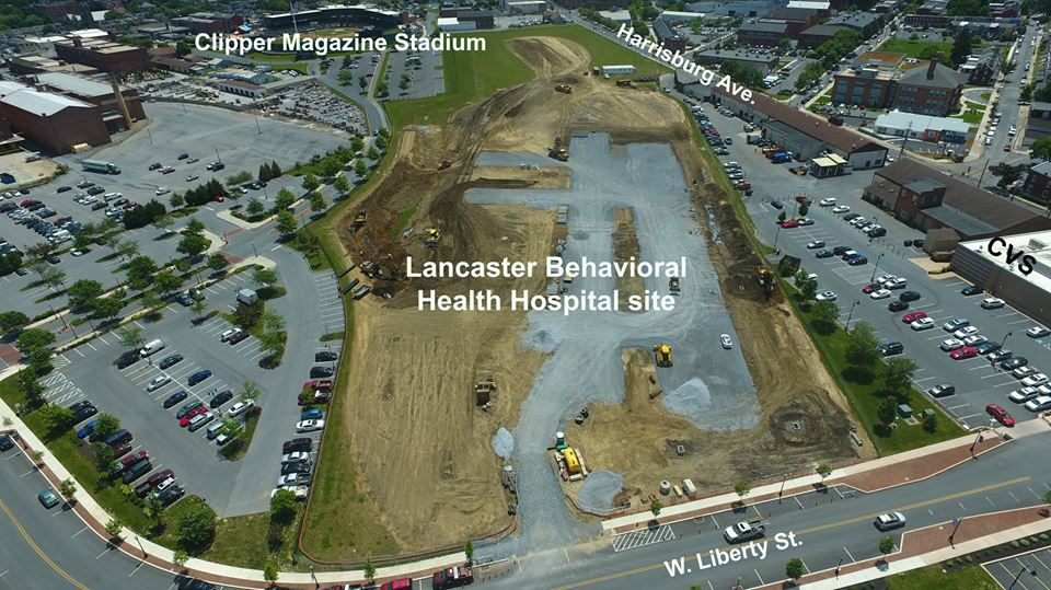 Lancaster General Health behavioral health hospital aerial shot