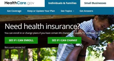 healthcare.gov home page as of Feb. 6, 2017