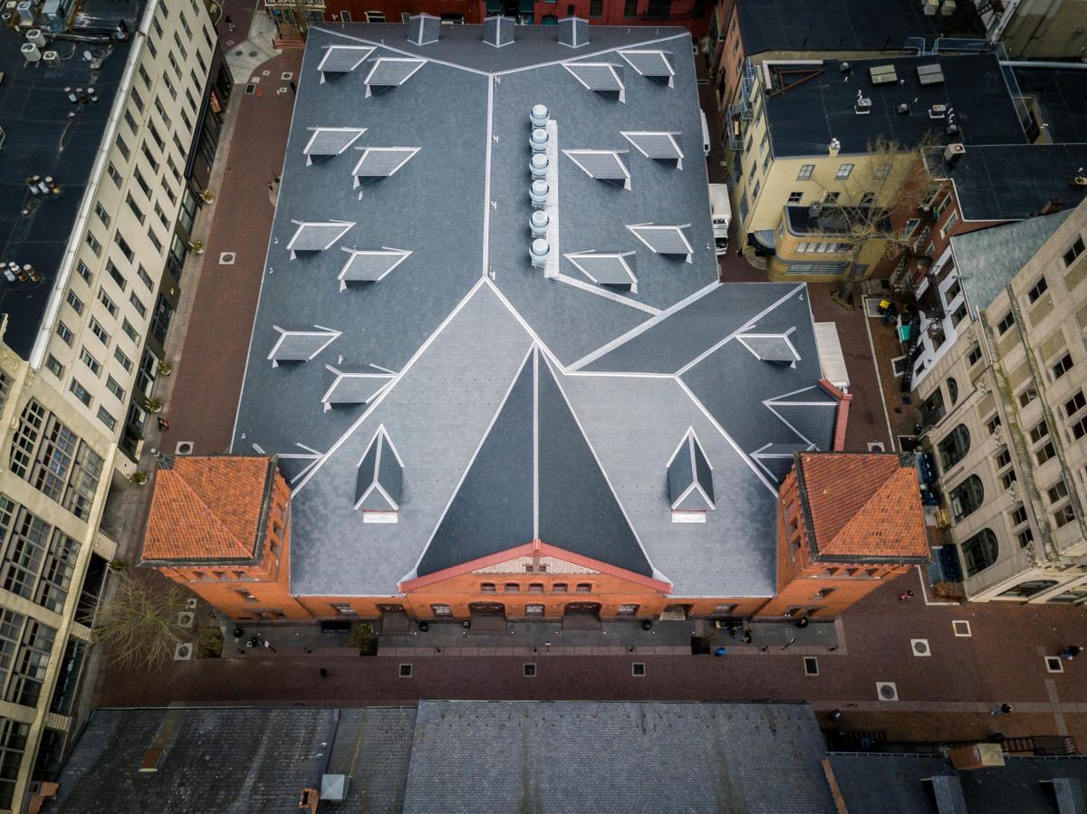 Aerial views of Lancaster during shutdown