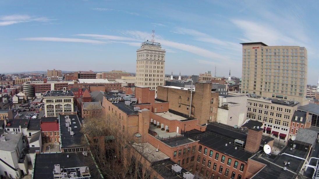 Lancaster city skyline
