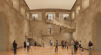 Rendering of new Forum space in Philadelphia museum