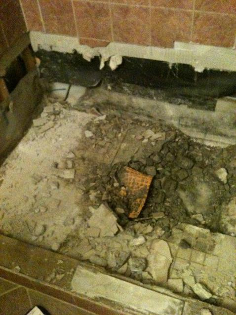 How To: Concrete Shower Base Repair