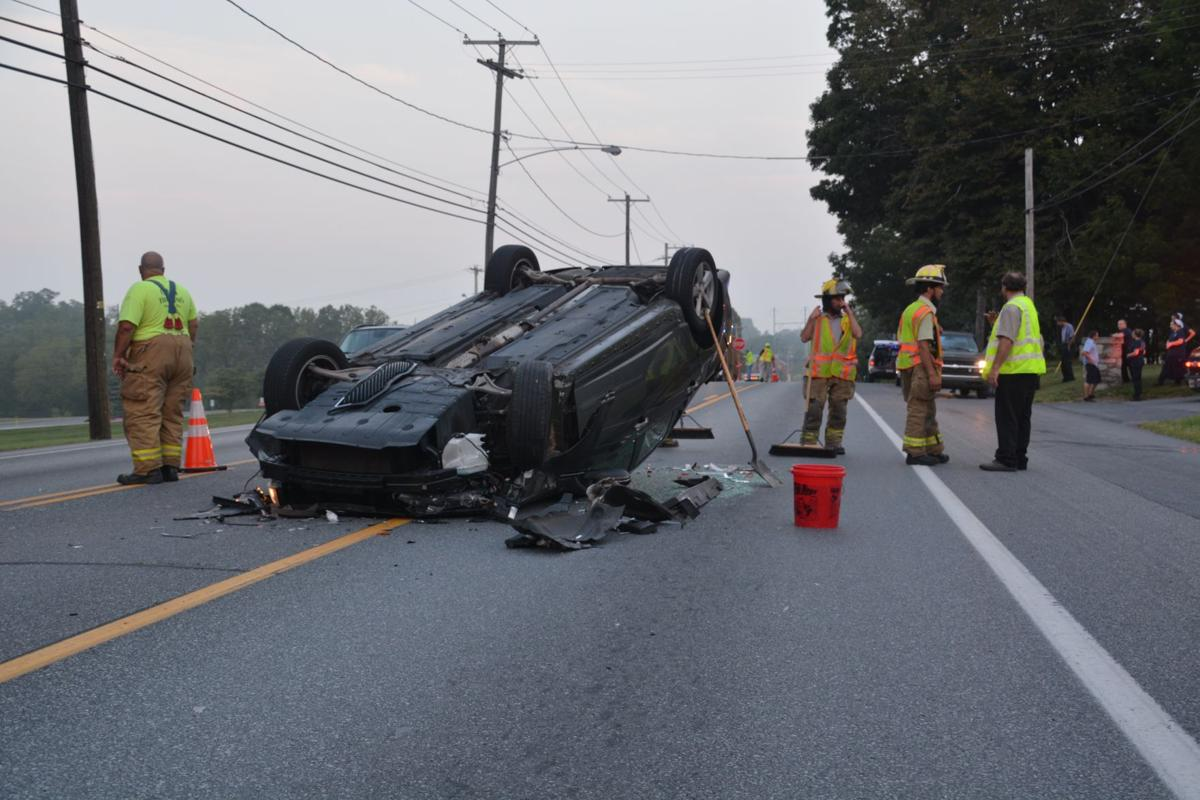 car overturns in crash with tractor-trailer on route 30 in paradise