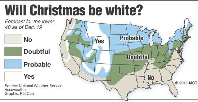 Chances of a white Christmas are 'slim' | News | lancasteronline.com