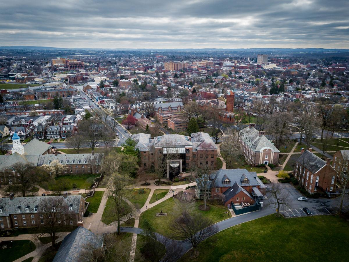 Aerial views of Lancaster during shutdown