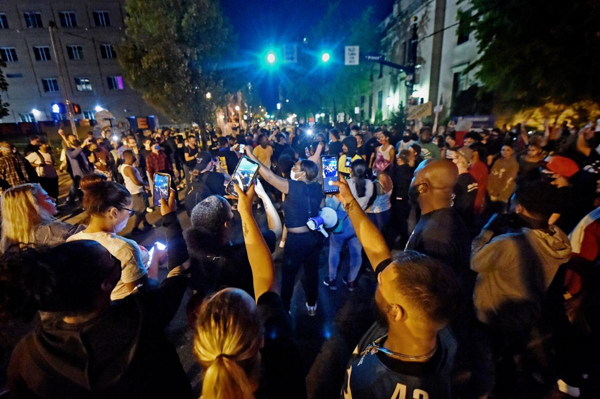 Protests outside of Lancaster City Police station