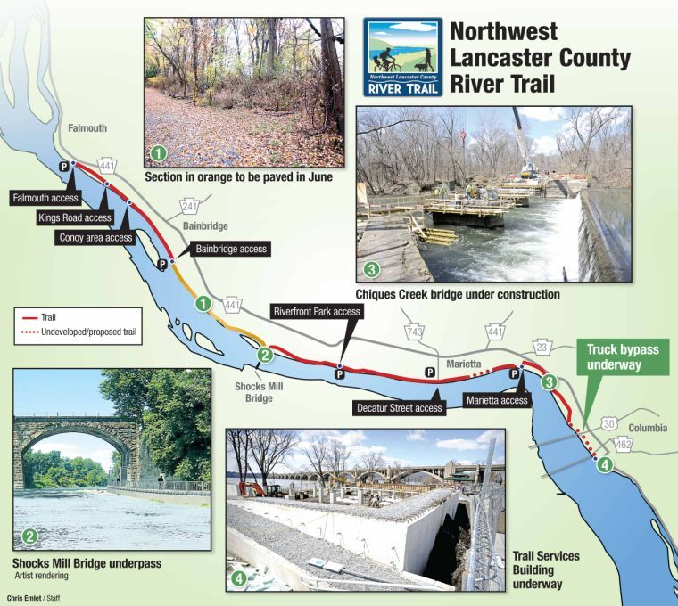 14 mile northwest lancaster county river trail nears finish line northwest river trail publicscrutiny Image collections