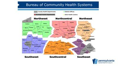 which Pa. counties and municipalities have their own health departments file map